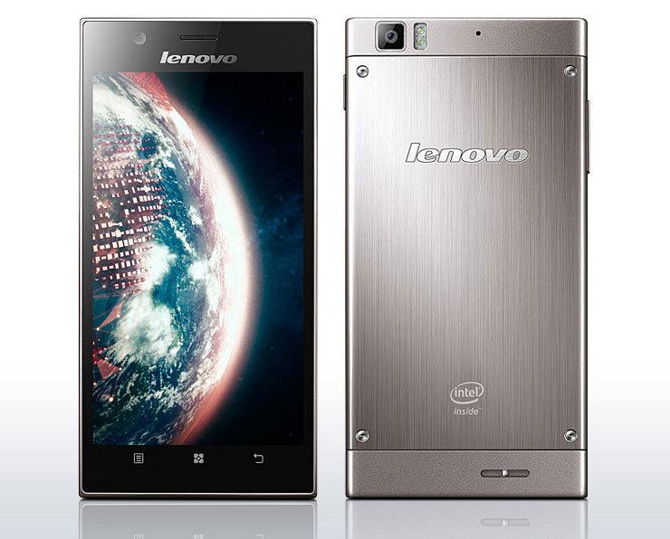 Lenovo K900, Флагман среди телефонов линейки  Lenovo Дисплей: 5,5 дюйм., 1920x1080 пикс. Процессор: 2000 МГц Платформа:Intel Atom.  Встроенная память: 16 Гб Цифровая камера: 13 Мп Время разговора: 15 ч Передача данных: 3G, Bluetooth, GPS,Wi-Fi.