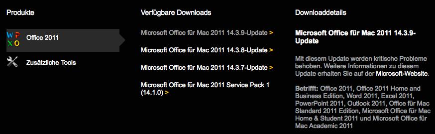 Update für Microsofts Mac-Officepaket 2011   heise online