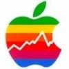 Apple-Logo mit Fieberkurve