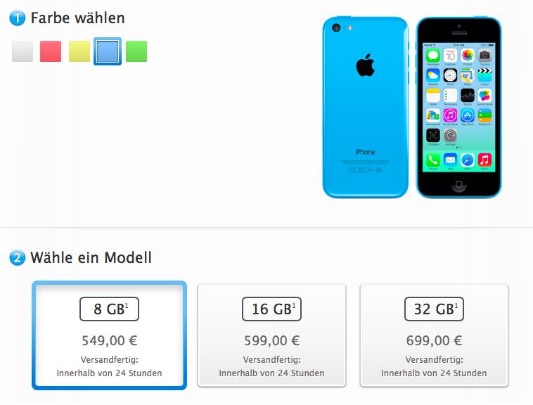 mehr speicherplatz iphone 5c