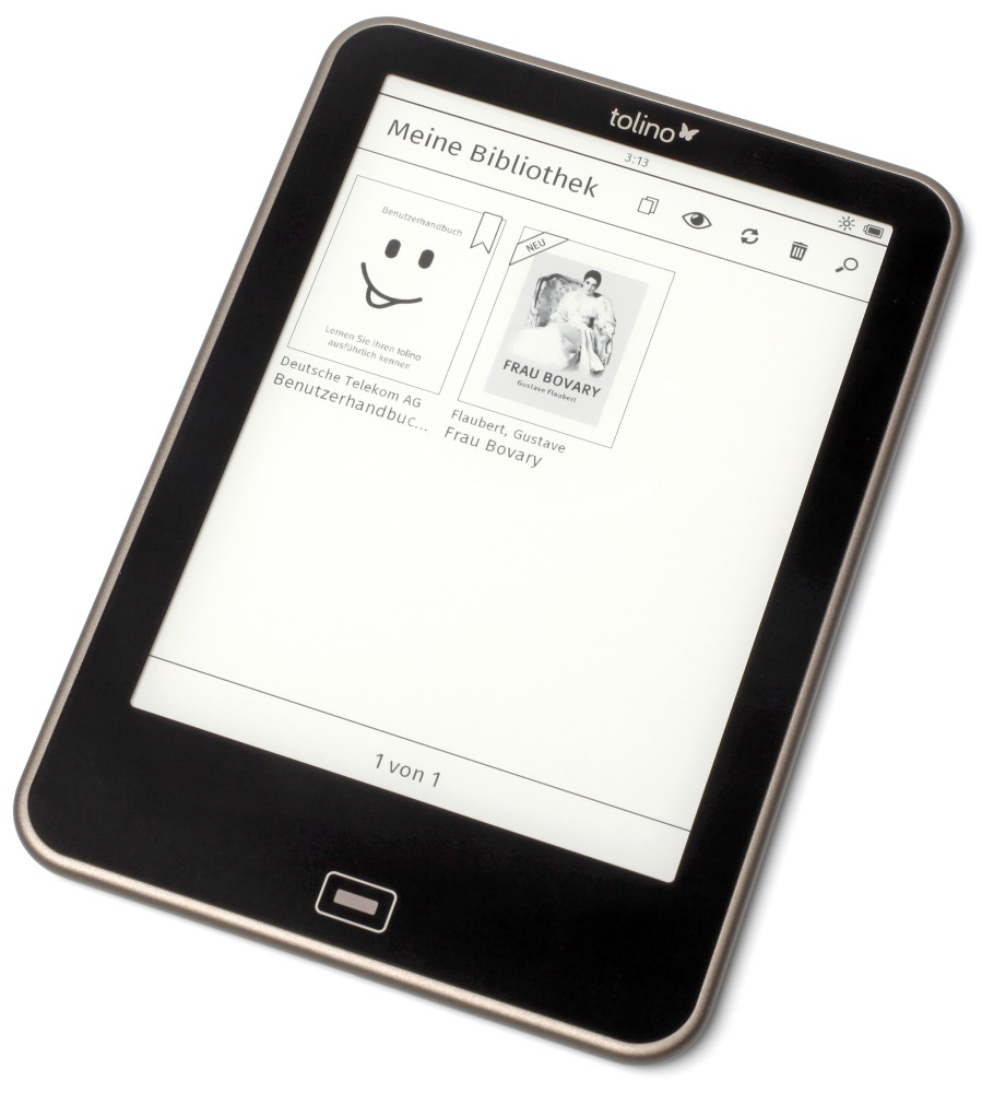 tolino vision neuester e ink reader mit leuchtdisplay heise online. Black Bedroom Furniture Sets. Home Design Ideas