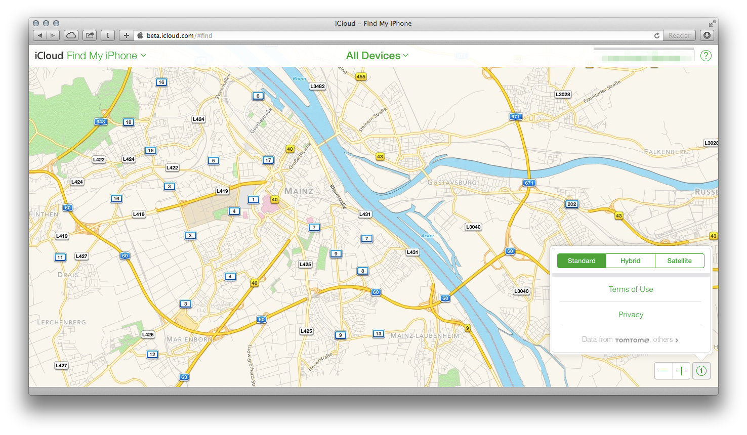 Apple Maps Give The Jump to Icloud.Com Beta