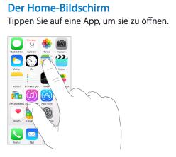 Bild zu «iOS 8: Apple bietet deutsche Handbücher und Sicherheitsführer an»