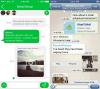 WhatsApp Messenger für iPhone 6 und 6 Plus angepasst