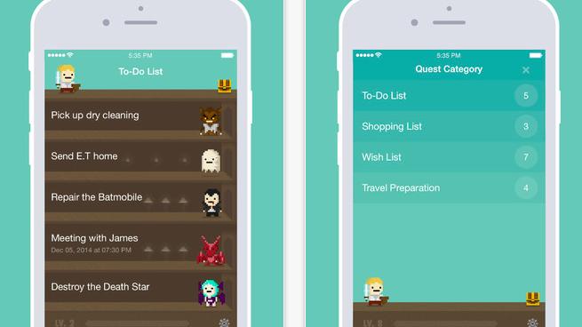 spielerische to do app quest gerade kostenlos mac i. Black Bedroom Furniture Sets. Home Design Ideas
