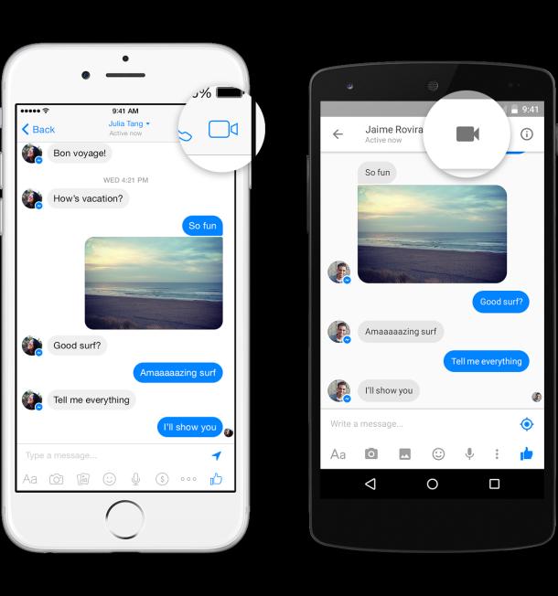 Videoanruf Facebook Messenger