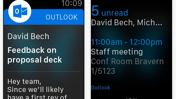 Bild zu «Microsoft bringt Outlook auf die Apple Watch»
