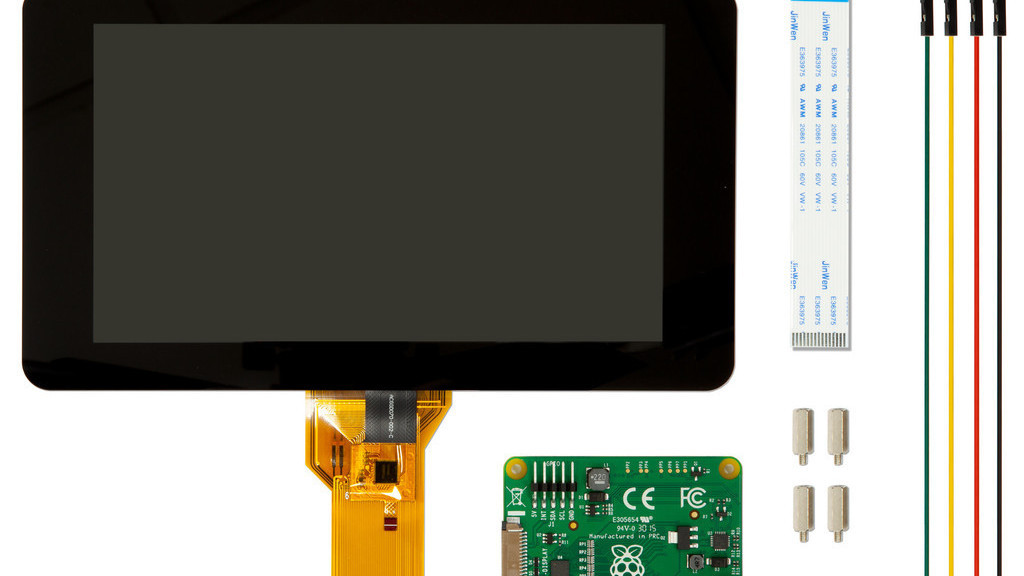 7 zoll touch display f r raspberry pi ab sofort erh ltlich. Black Bedroom Furniture Sets. Home Design Ideas