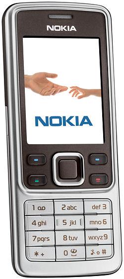 Сотовый телефон Nokia 6301 - Вид: Спереди.