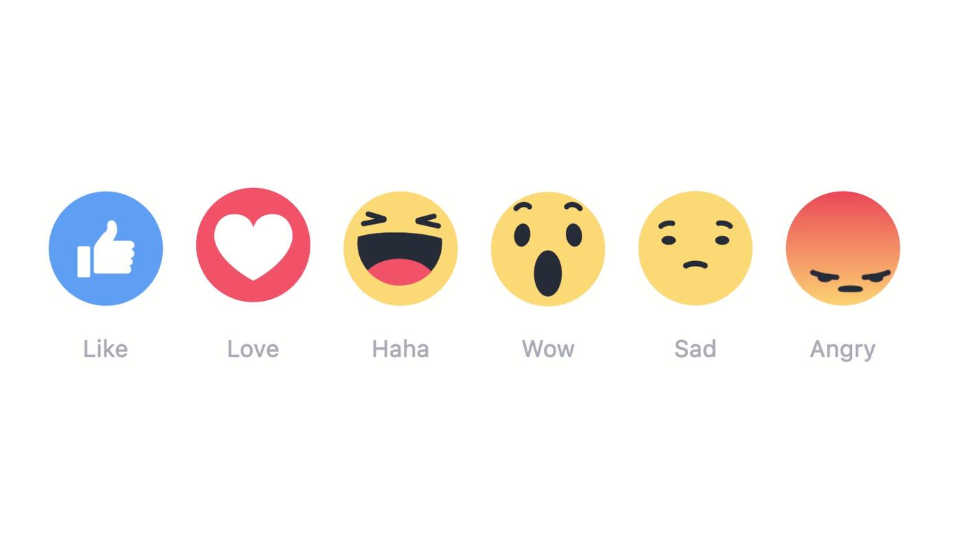 newsticker meldung facebook reactions haha traurig erweitert gefaellt button