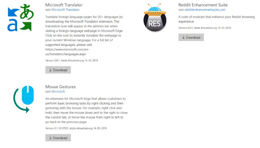 windows 10 update beschert edge browser erweiterungen heise online. Black Bedroom Furniture Sets. Home Design Ideas