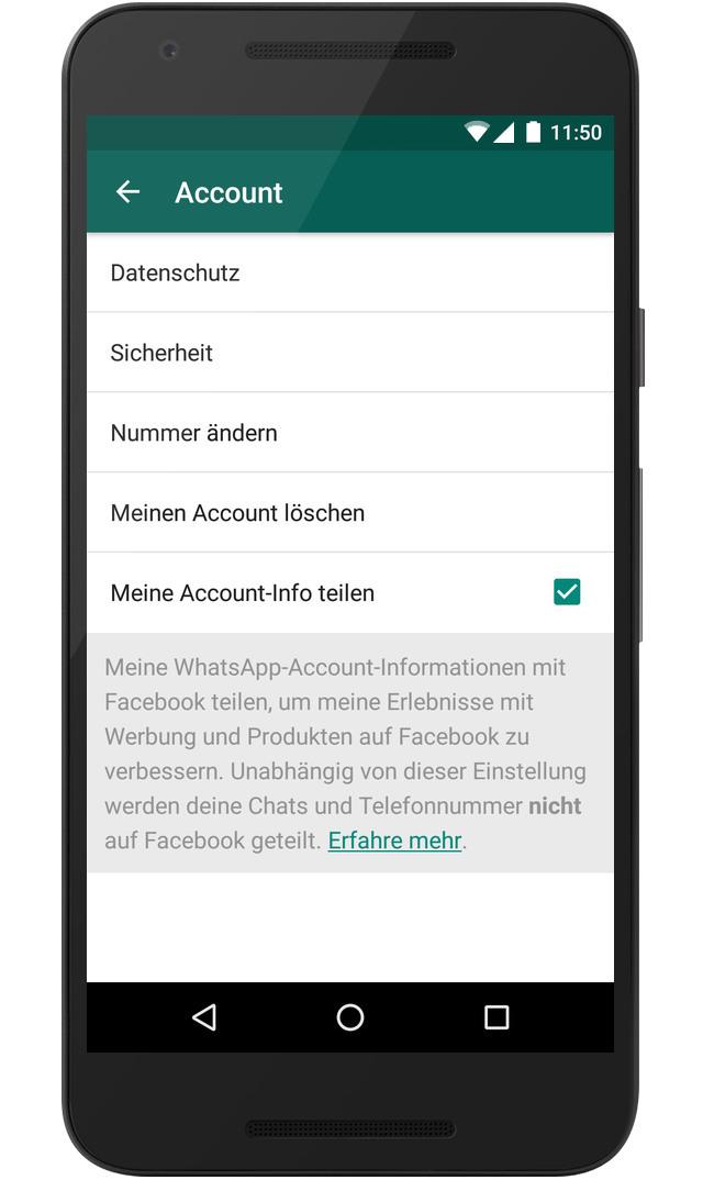 Whatsapp Datennutzung Widersprechen