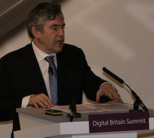 Gordon Brown beim Digital Britain Summit