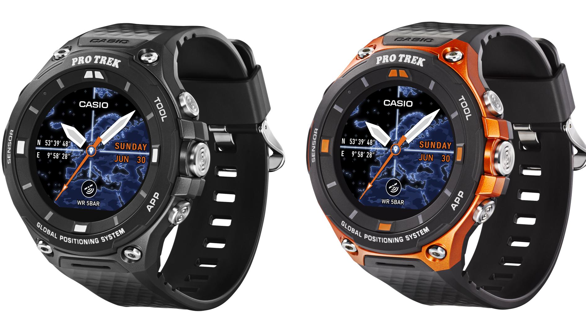 Outdoor-Smartwatch von Casio mit Android Wear 2.0