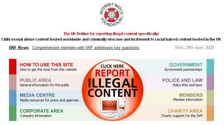 IWF) пришли к выводу, что большинство сайтов с детской порнографией