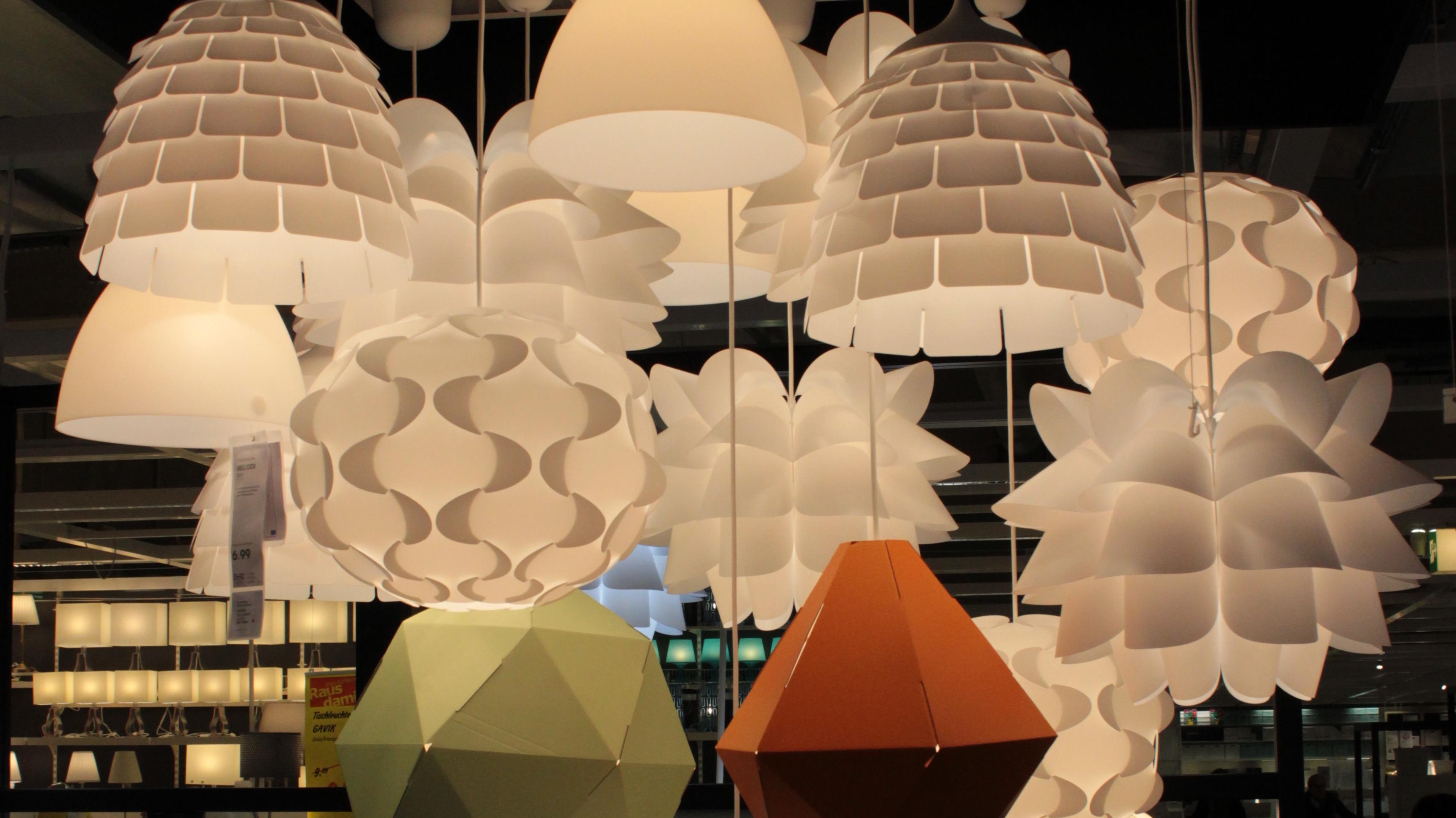 ikea hacking lampen aus k chenutensilien make. Black Bedroom Furniture Sets. Home Design Ideas