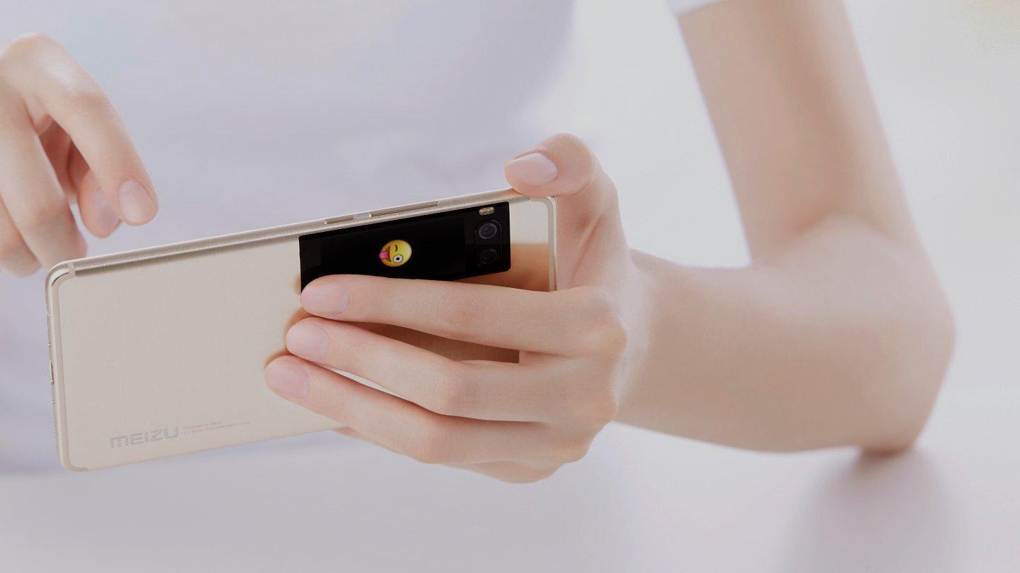 meizu pro 7 neues smartphone mit amoled display auf der r ckseite heise online. Black Bedroom Furniture Sets. Home Design Ideas