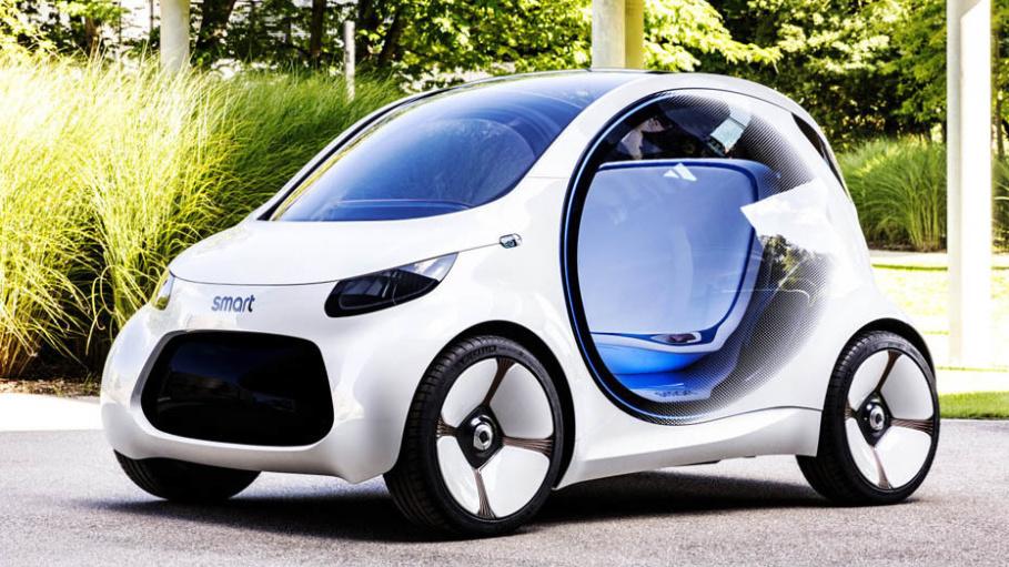 vision eq fortwo daimlers studie f r autonomen elektro smart ohne lenkrad heise online. Black Bedroom Furniture Sets. Home Design Ideas