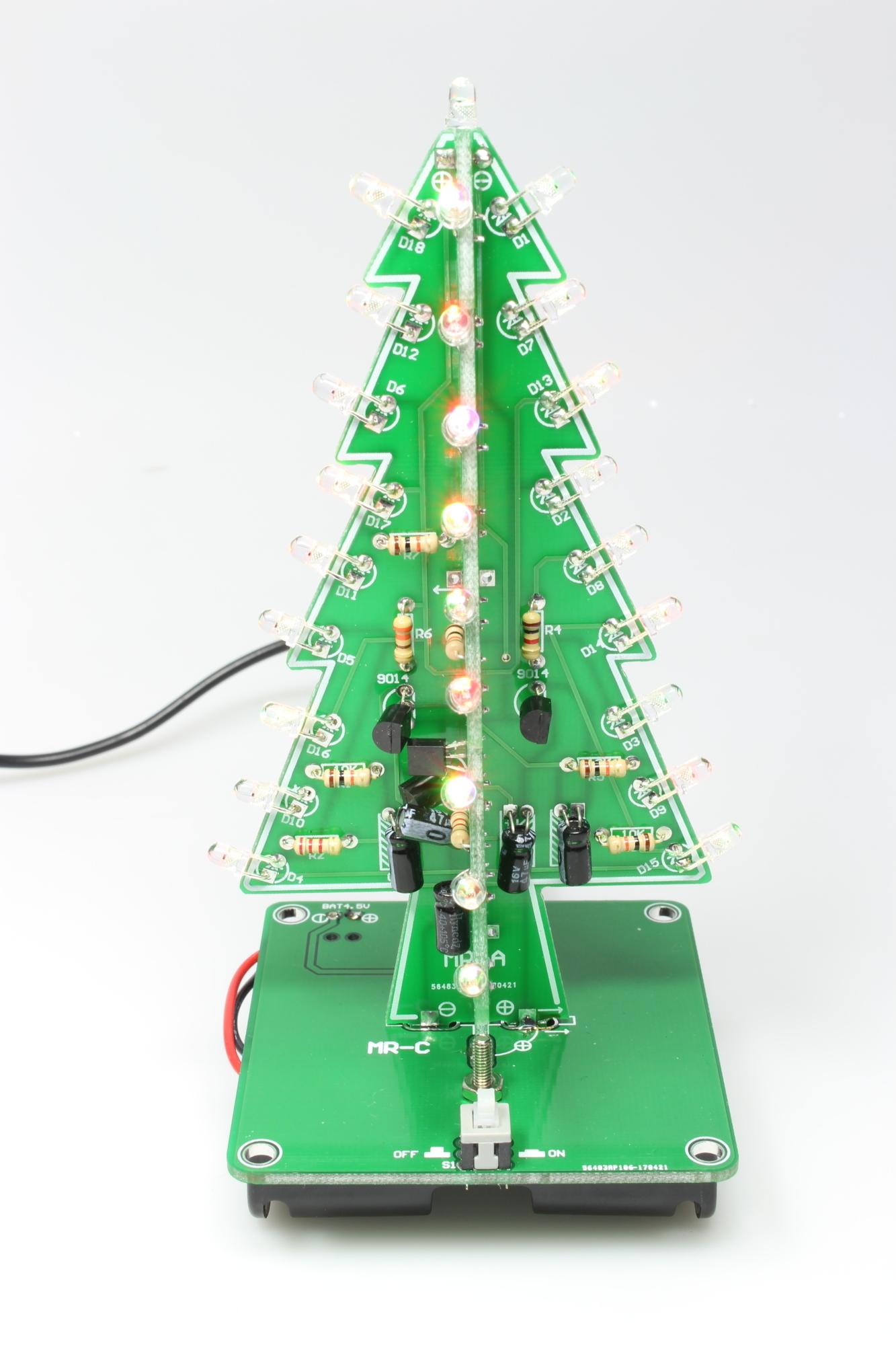 tischdeko blinkender led weihnachtsbaum make. Black Bedroom Furniture Sets. Home Design Ideas