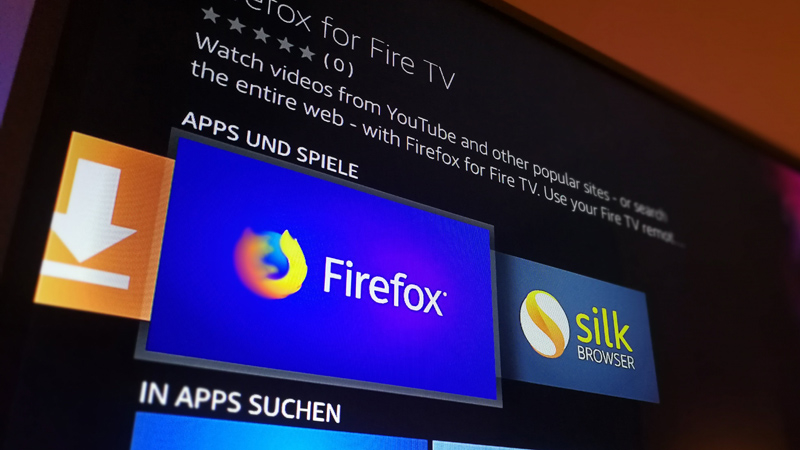 firefox und silk zwei neue browser f r fire tv als youtube ersatz heise online. Black Bedroom Furniture Sets. Home Design Ideas