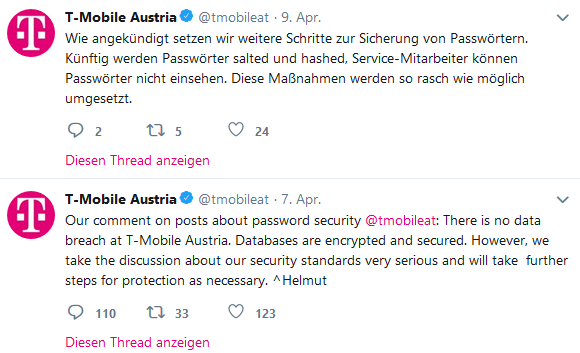 T-Mobile Austria will nach Twitter-Shitstorm an der IT-Sicherheit