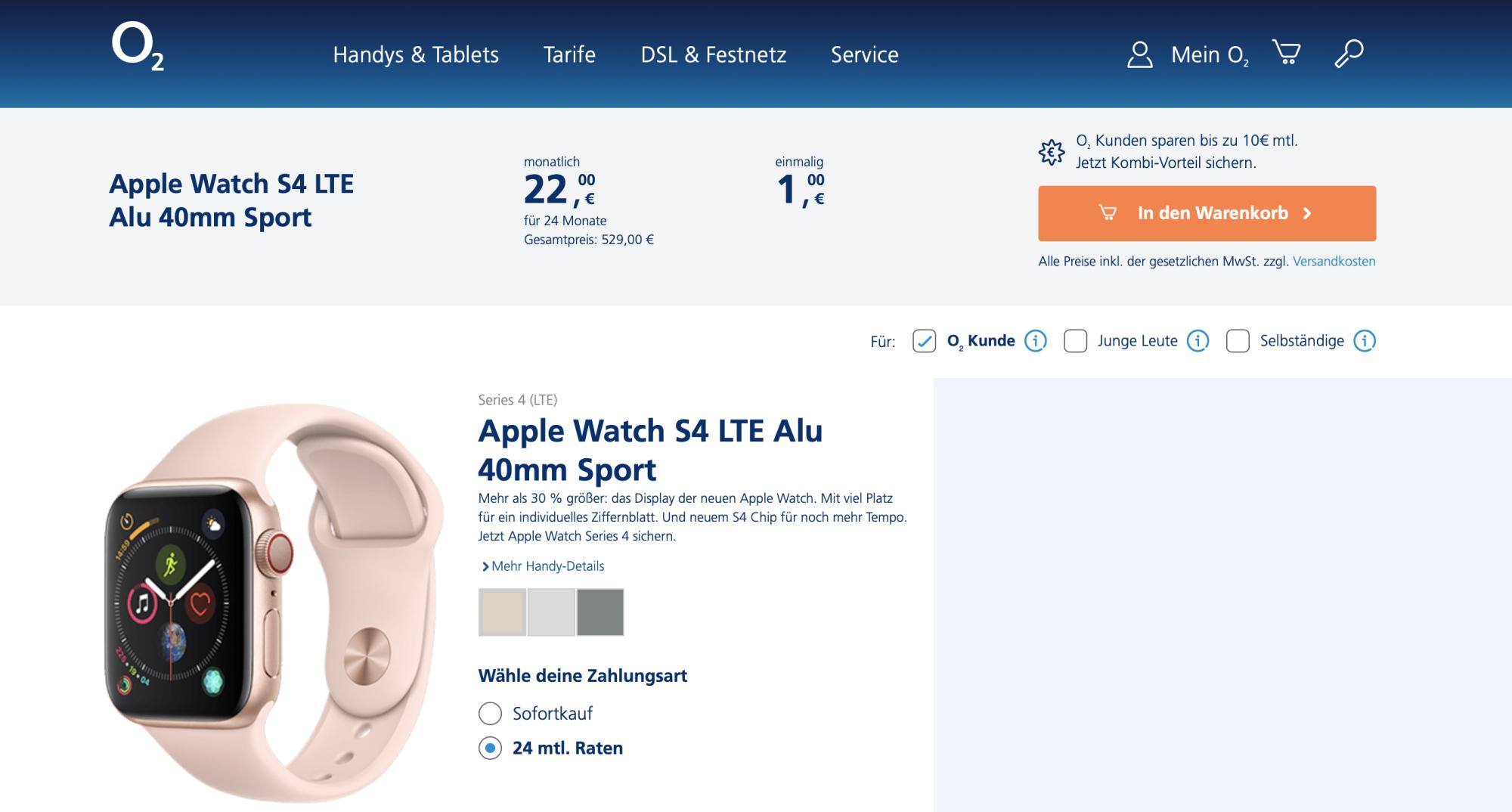 Apple Watch Lte Darf Ins O2 Netz Heise Online