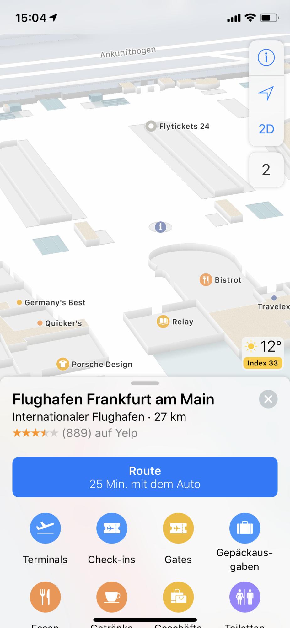 Apple Maps Frankfurt Airport Erhalt Indoor Karte Heise Online