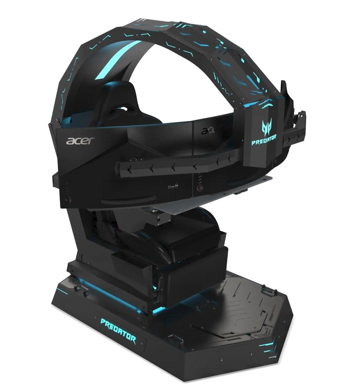 gaming stuhl mit monitor