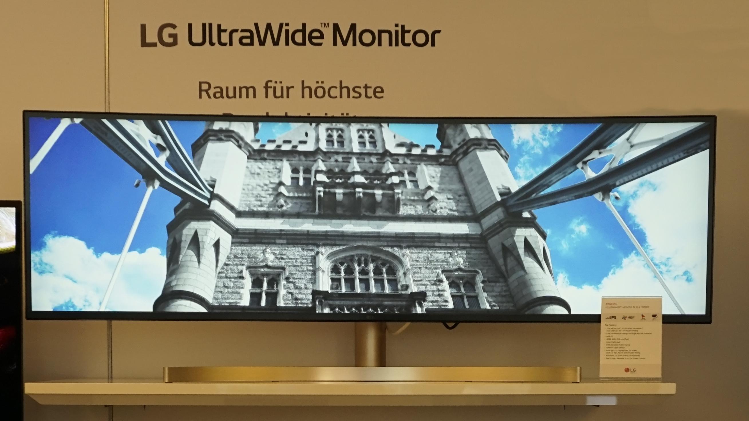 Hochauflösender Monitorschlitz: Utrabreites Display von LG