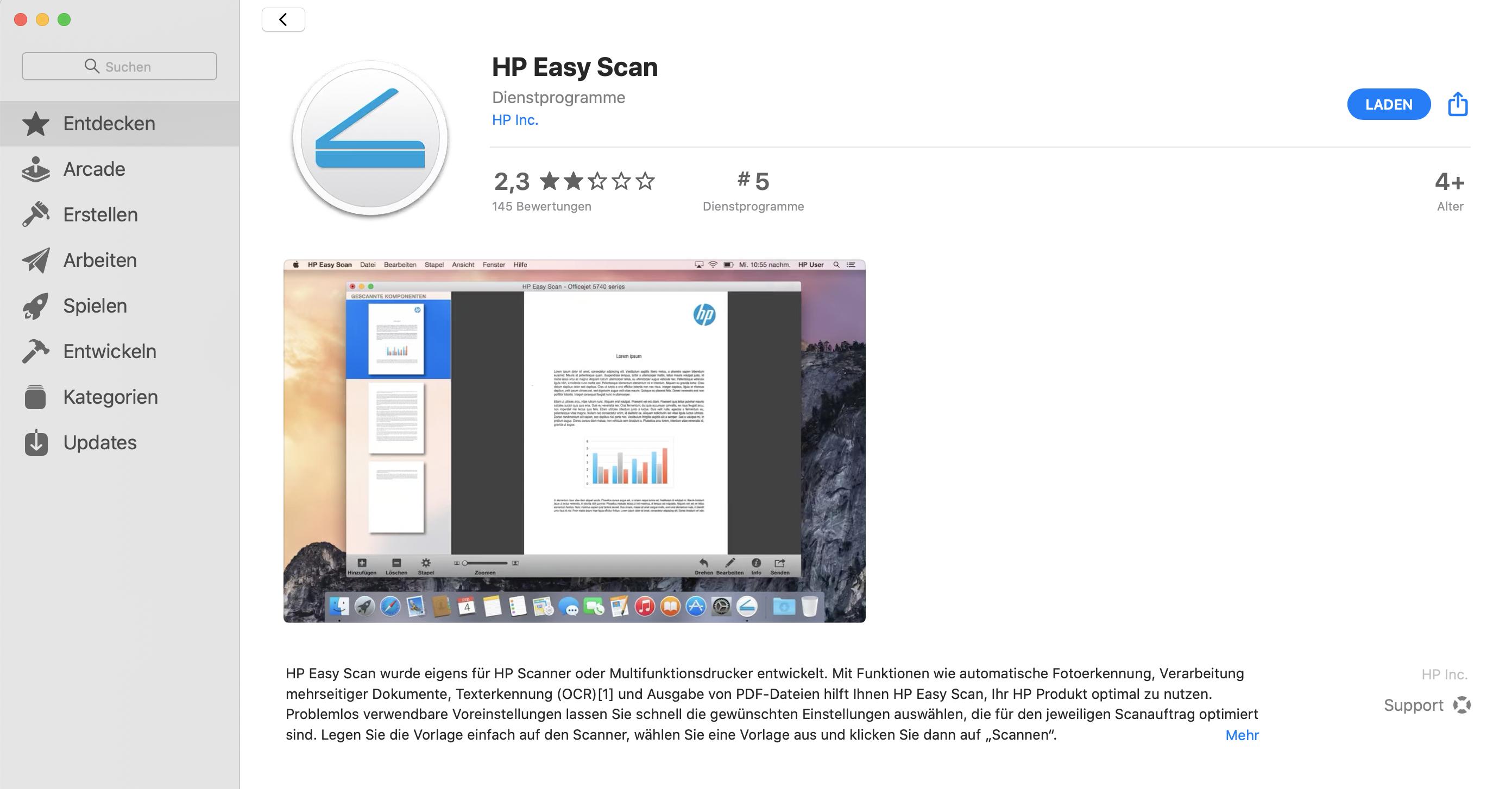 HP-Drucker unter macOS Catalina: Easy Scan funktioniert ...