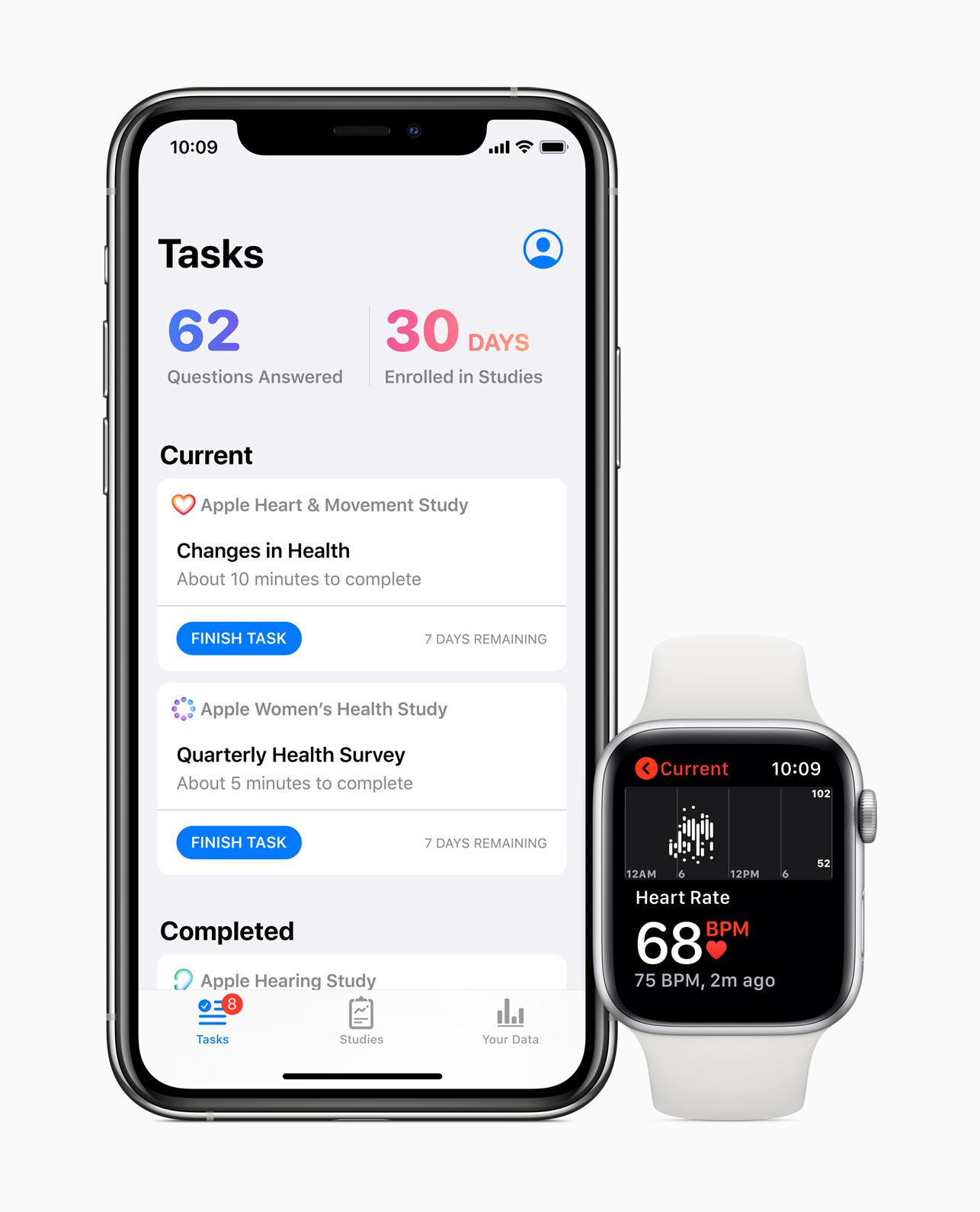 Apple startet drei neue Gesundheits-Untersuchungen