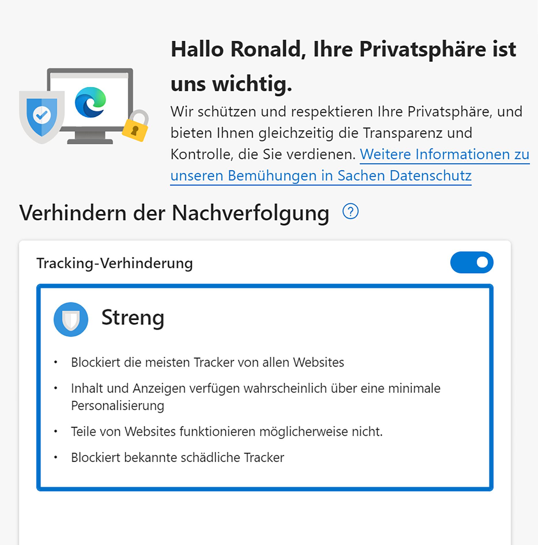 Tracking Schutz