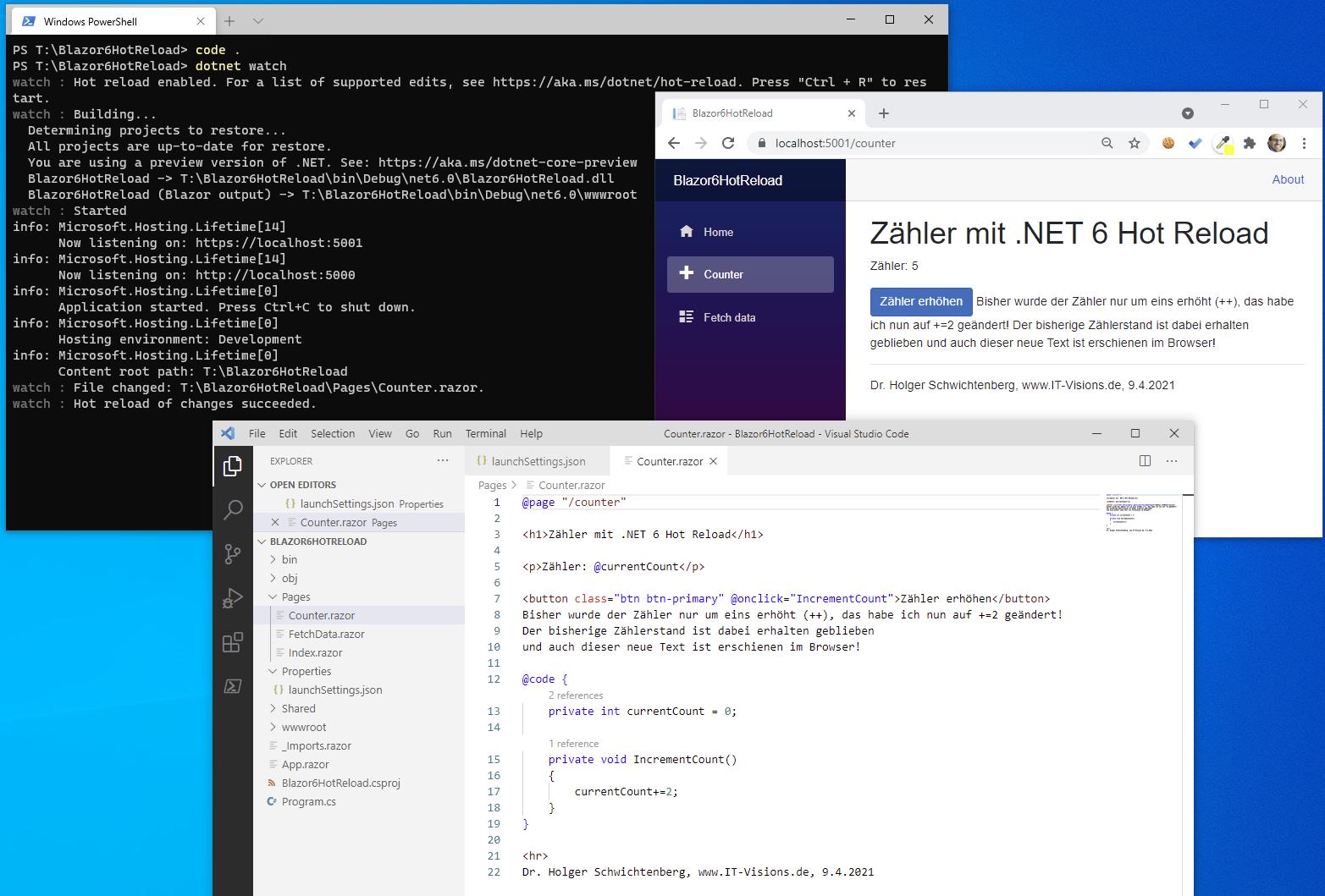 Blazor läuft auch auf dem Desktop in .NET 20 Preview 20   heise online