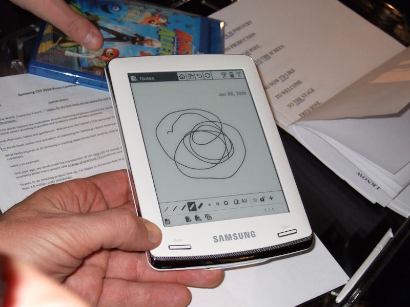 Samsung eBook Reader Picture (c) by  heise.de