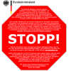 Websperren-Stoppschild