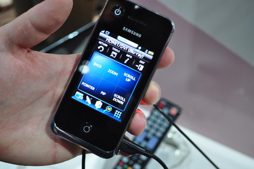 Samsung-TVs: Browsen per Touchscreen-Fernbedienung | heise online