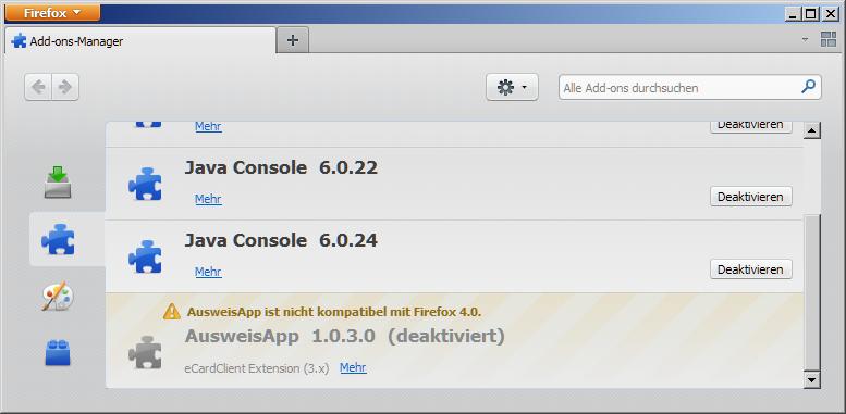 Neuer Personalausweis: Firefox 4 deaktiviert AusweisApp