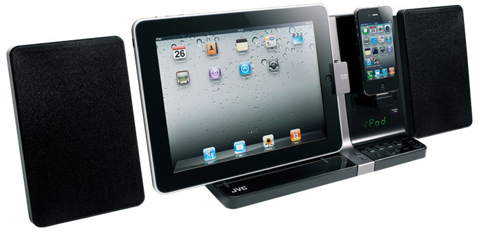 hifi anlage mit ipad und iphone dock mac i. Black Bedroom Furniture Sets. Home Design Ideas