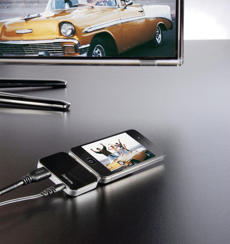 hdmi adapter f r ipod iphone und ipad mac i. Black Bedroom Furniture Sets. Home Design Ideas