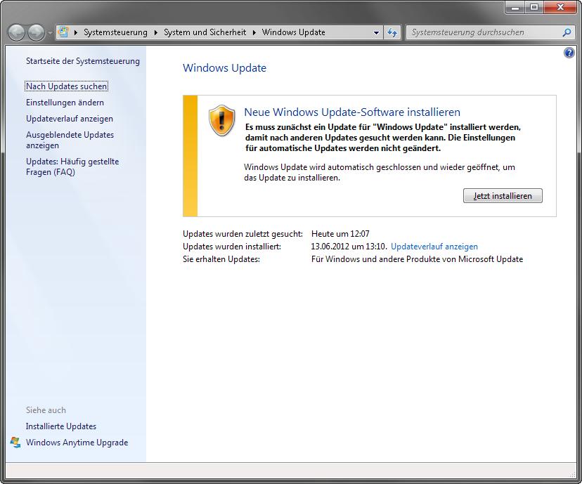 Windows update update mit anlaufschwierigkeiten heise for Window upgrade