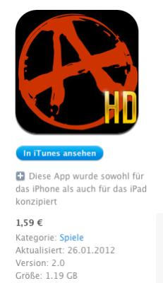 iOS Größe nimmt zu