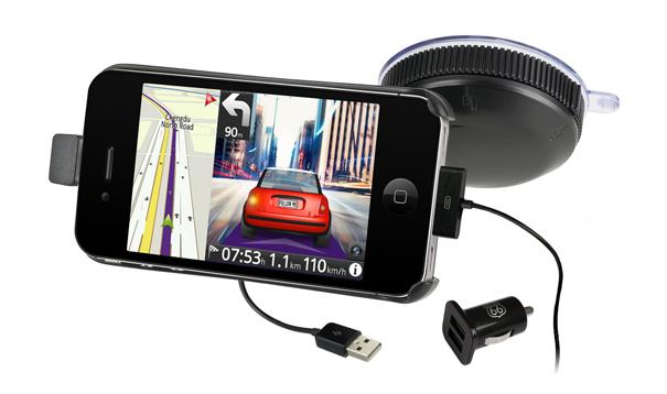 g nstige iphone autohalterung mit ladekabel mac i. Black Bedroom Furniture Sets. Home Design Ideas