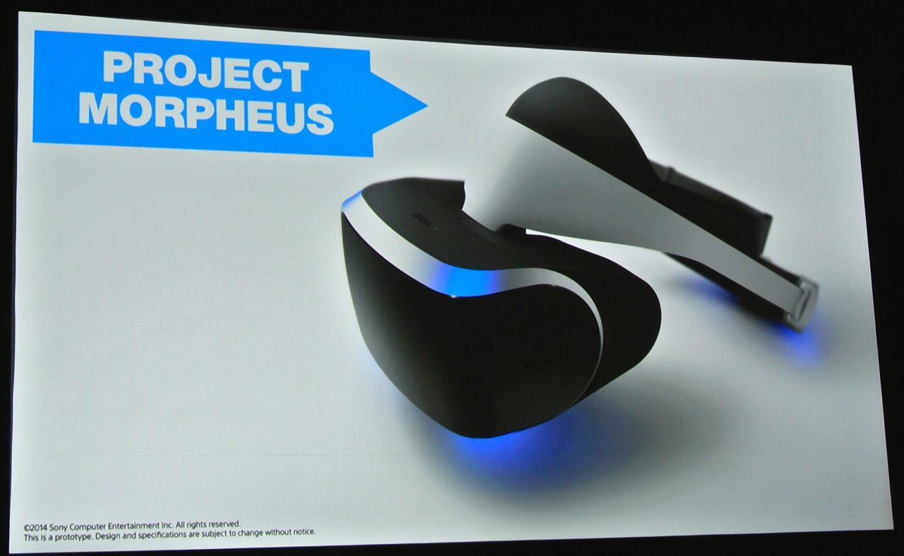 project morpheus sonys virtual reality brille f r die ps4. Black Bedroom Furniture Sets. Home Design Ideas