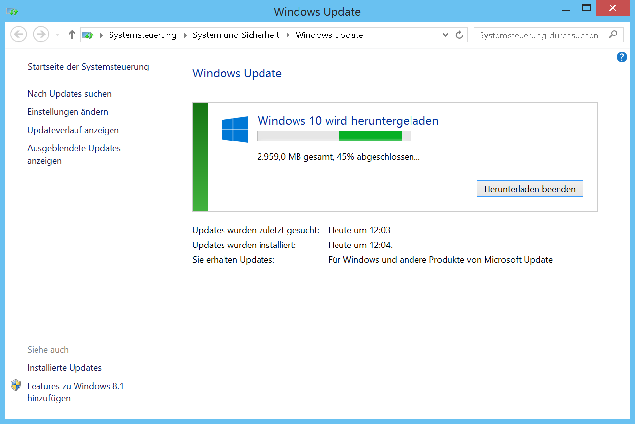 Windows 10 f r sp tentschlossene c 39 t magazin for Windows 10 update