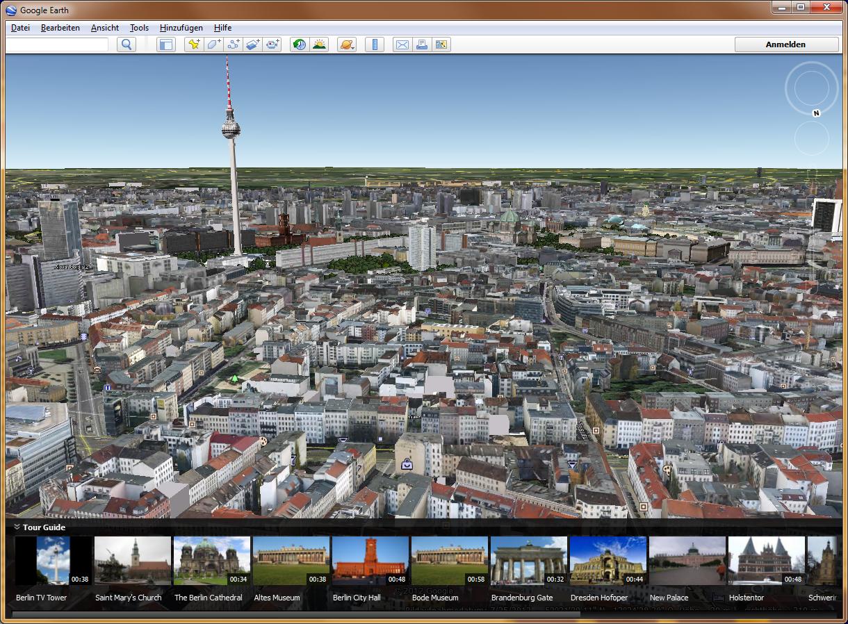 Berlin als Stadtmodell im selben Google Earth | Mac & i