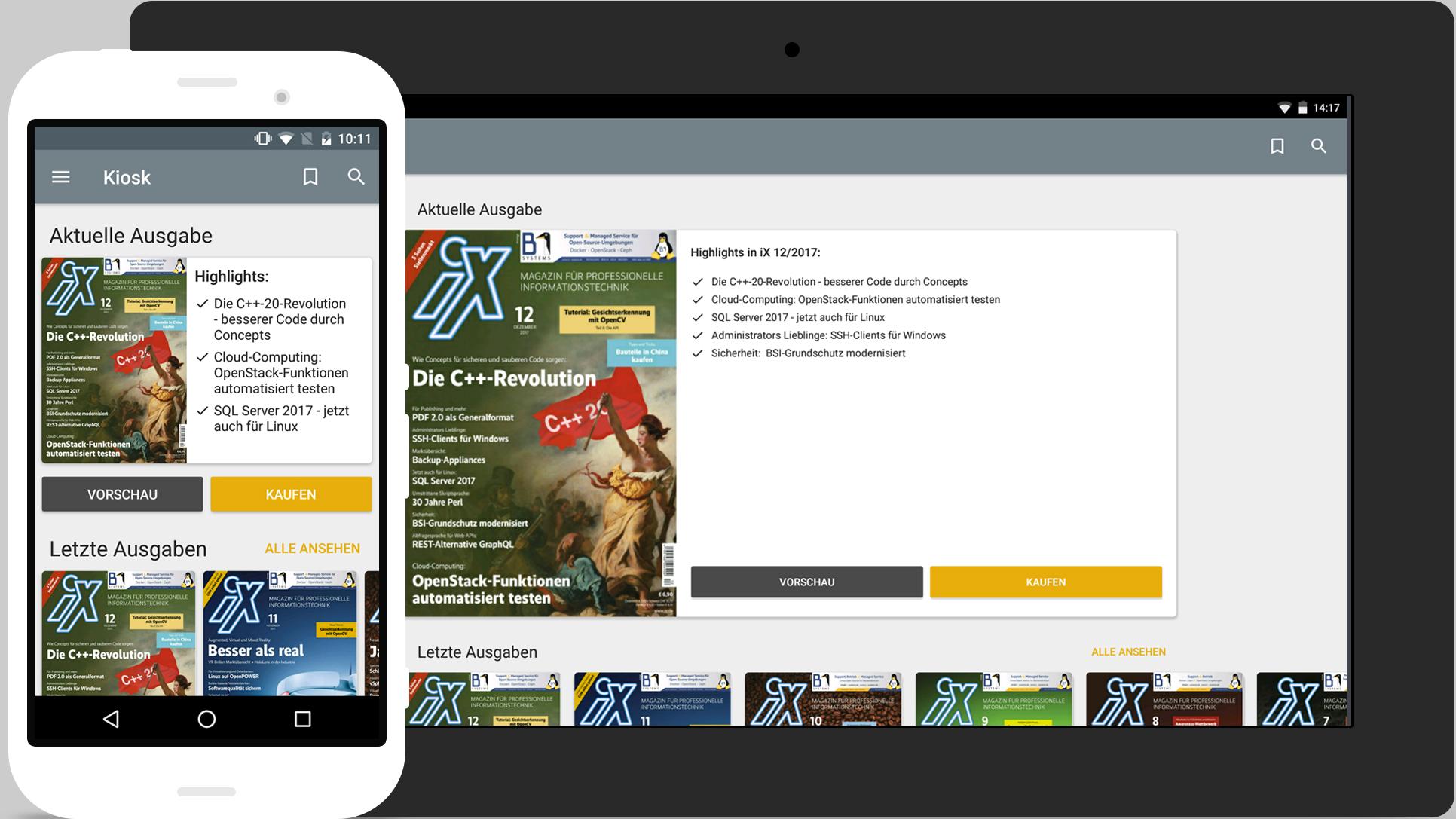 Apps für iX