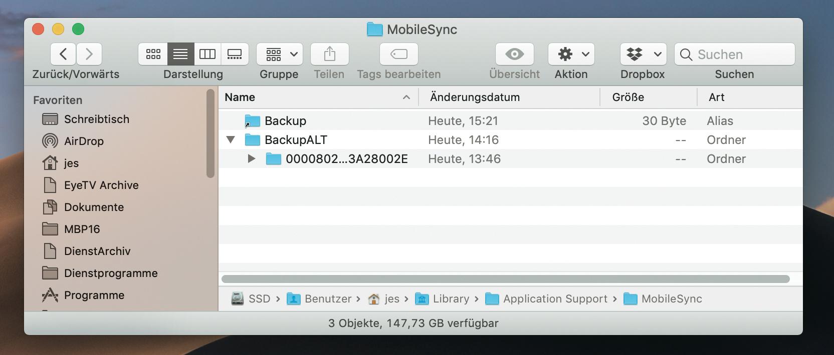 Iphone Backups Auf Externe Festplatte Auslagern Mac I