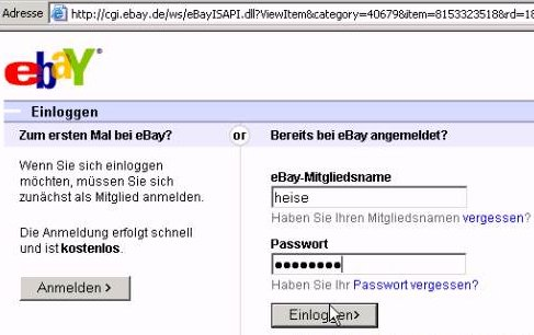 Ebay Login Geht Nicht