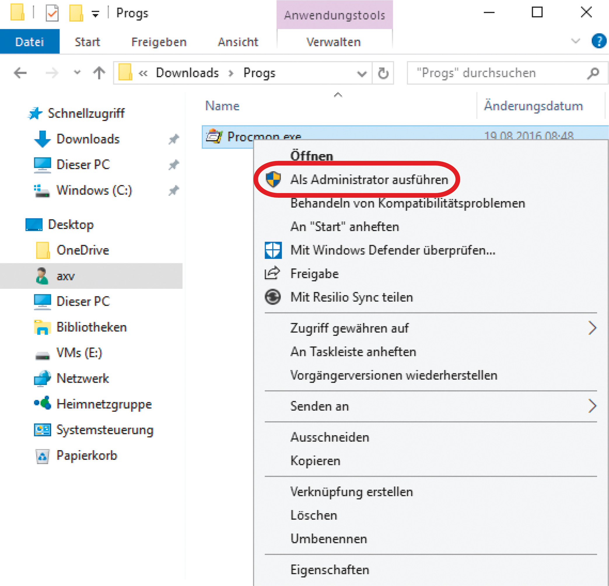 Adminrechte Windows 10