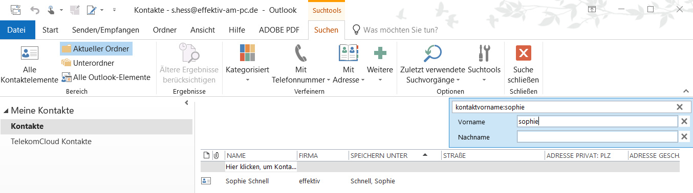Outlook Kontakte Verwalten C T Heise Magazine